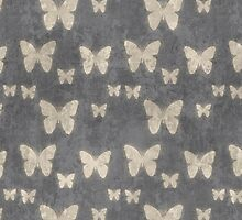 Butterflies Wings Insects Gray, Eggshell Yellow by sitnica
