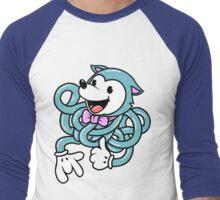 Blue Noodle Fox Men's Baseball ¾ T-Shirt