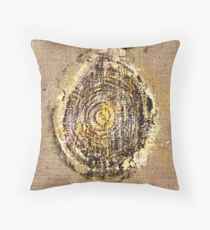 Fossil III - Woodcut Throw Pillow