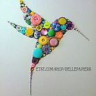 Button & Swarovski Crystal Hummingbird by Laura Bell