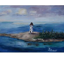 Nassau Harbour Lighthouse Original Painting Photographic Print