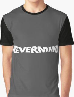Nevermind Logo - White Graphic T-Shirt