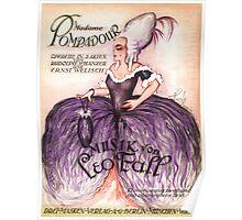 MADAM POMPADOUR  (vintage illustration) Poster