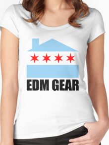EDM Gear Chicago Logo Women's Fitted Scoop T-Shirt