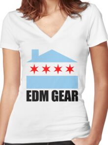 EDM Gear Chicago Logo Women's Fitted V-Neck T-Shirt