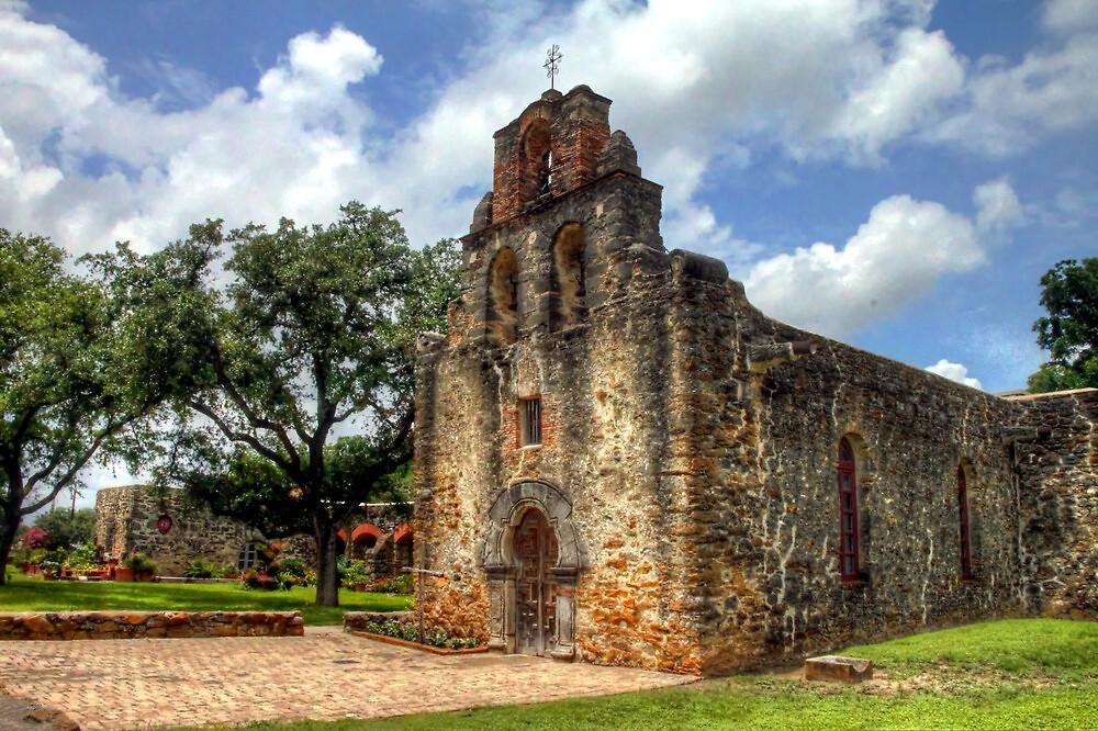 Mission San Francisco de la Espada - San Antonio, Texas by Terence Russell