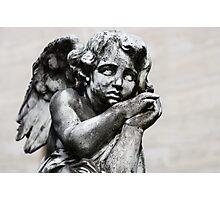 Sad Little Angel Photographic Print