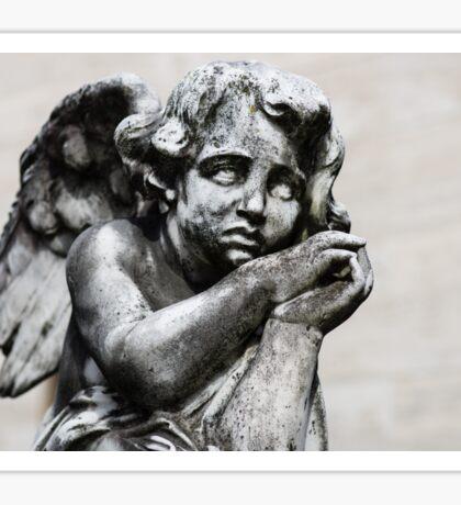 Sad Little Angel Sticker