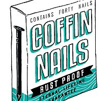 Coffin Nails Print by LittleIllusion