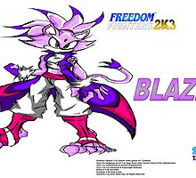 Blaze the cat (Freedom Fighters 2K3) poster by TakeshiUSA