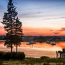Bass Harbor Sunset by J. Day