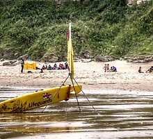 RNLI Lifeguard Surfboard by Andrew Pounder