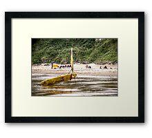 RNLI Lifeguard Surfboard Framed Print