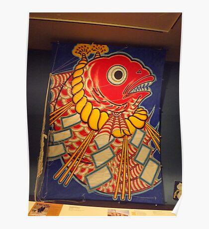 Classic Japanese Kite, Museum of International Folk Art, Santa Fe, New Mexico Poster