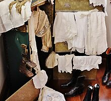 Vintage Clothing and a Steamer Trunk by Martha Sherman