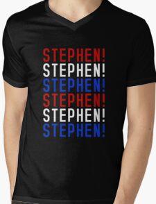 STEPHEN! STEPHEN! STEPHEN! Mens V-Neck T-Shirt