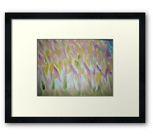 """Original Abstract Oil Painting """"Meadow Bloom"""" Framed Print"""
