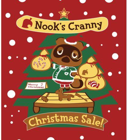 Tom Nook's Christmas Sale Sticker