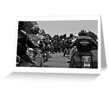 Riding in the Pack Greeting Card