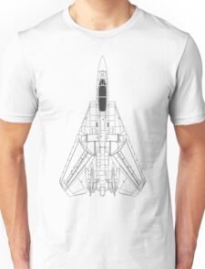 Grumman F-14 Tomcat Blueprint Unisex T-Shirt