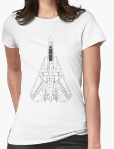 Grumman F-14 Tomcat Blueprint Womens Fitted T-Shirt