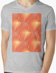 Fractal Orange Star Mens V-Neck T-Shirt