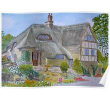 Shropshire Farmhouse by John Rees Poster