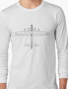Boeing B-17 Flying Fortress Blueprint Long Sleeve T-Shirt