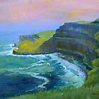 Cliffs, Ireland.  by Mary Faux Jackson by HurstPainters