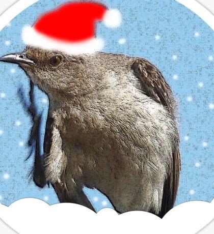 Christmas Grackle Sticker