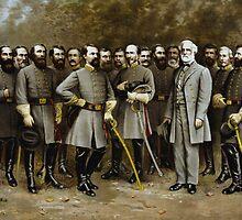 Robert E. Lee and His Generals -- Civil War by warishellstore