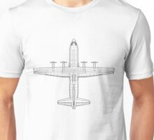 Lockheed C-130 Hercules Blueprint Unisex T-Shirt