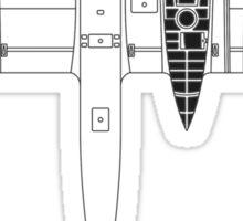 Blohm & Voss 141 (BV 141) Blueprint Sticker