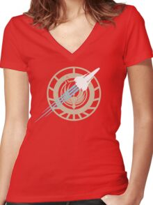 Battle Stars Women's Fitted V-Neck T-Shirt