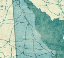 Delaware Map Blue Vintage Sticker