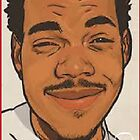 Chance The Rapper IPhone 4 Case #2 by KeithTurner