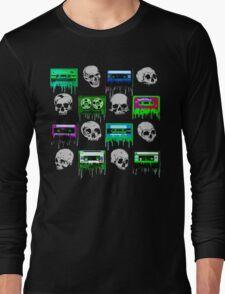 Skulls and creepy Tapes Long Sleeve T-Shirt