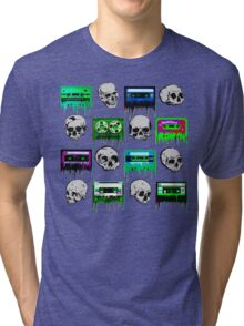Skulls and creepy Tapes Tri-blend T-Shirt