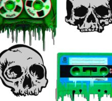 Skulls and creepy Tapes Sticker