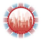 London City Skyline - white  by SwanStarDesigns