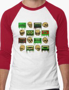 Skulls and creepy Tapes 2 Men's Baseball ¾ T-Shirt