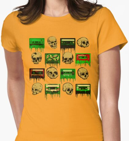 Skulls and creepy Tapes 2 Womens Fitted T-Shirt