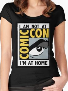 I'm Not At Comic Con Women's Fitted Scoop T-Shirt