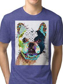 Bulldog portrait Tri-blend T-Shirt