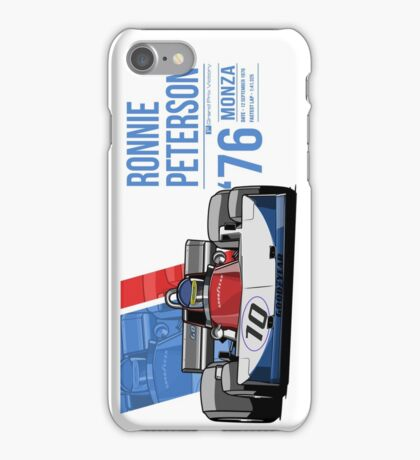 Ronnie Peterson - 1976 Monza iPhone Case/Skin