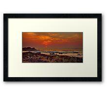 HOPEMAN - SUNSET ON FULL MOON NIGHT Framed Print