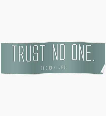 Trust No One. Poster