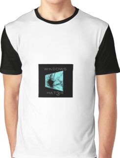 "WindowsHat3r ""Black"" Graphic T-Shirt"