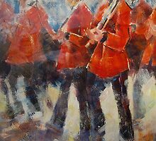 Marching Guards On Parade - Soldiers Art Gallery by Ballet Dance-Artist