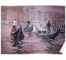 Gondolas Venice Italy - Boats Art Gallery Poster